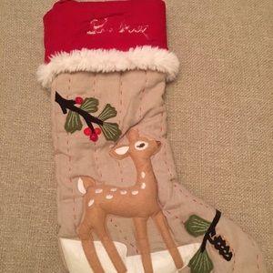 Pottery Barn Deer Woodland Christmas Stocking